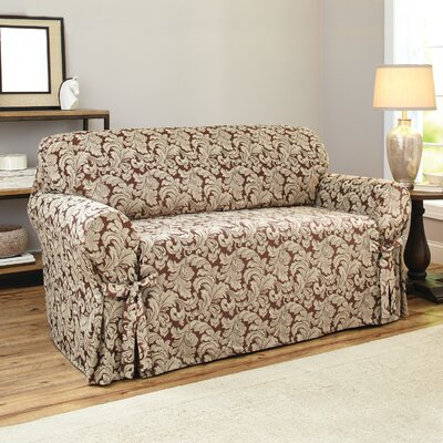 Scroll Polyester Loveseat Slipcover