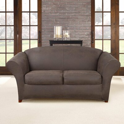 Ultimate Stretch Faux Leather 3 Piece Sofa Slipcover Upholstery: Weathered Saddle
