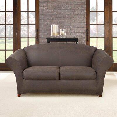Ultimate Stretch Box Cushion Sofa Slipcover Upholstery: Weathered Saddle