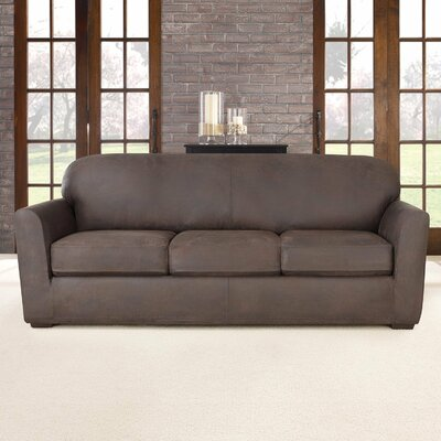 Ultimate Stretch Box Cushion Sofa Slipcover Upholstery: Weathered Saddle