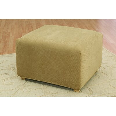 Stretch Pique Oversized Ottoman Slipcover Color: Antique