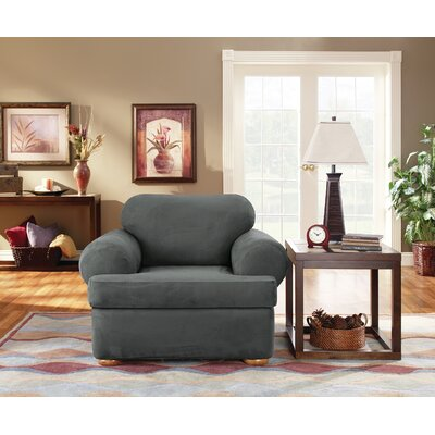 T-Cushion Armchair Slipcover Upholstery: Carbon