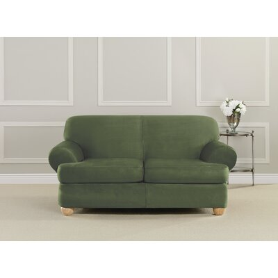 Ultimate Stretch Suede Polyester Loveseat Slipcover