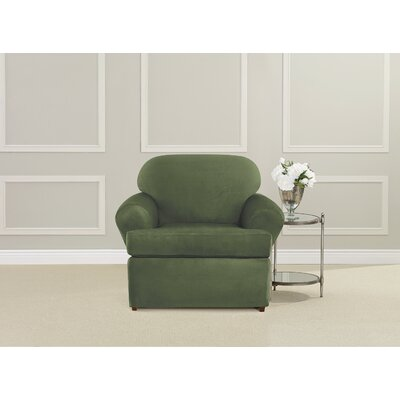 Ultimate Stretch Suede Polyester Armchair Slipcover