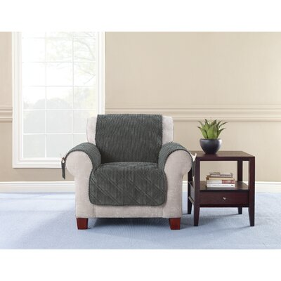 Box Cushion Armchair Slipcover Upholstery: Graphite