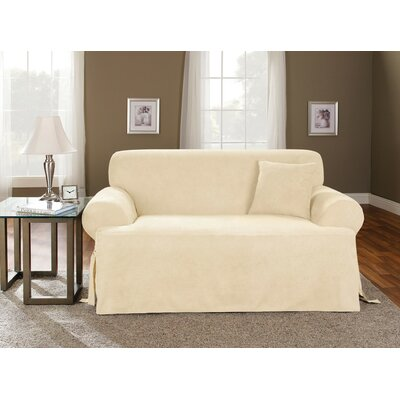 T-Cushion Soft Suede Ployester Loveseat Slipcover