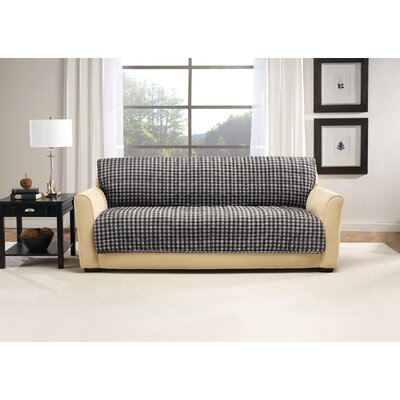 Box Cushion Armless Sofa Slipcover