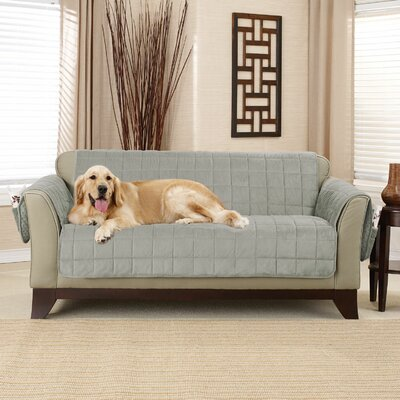 Deep Pile Box Cushion Loveseat Slipcover