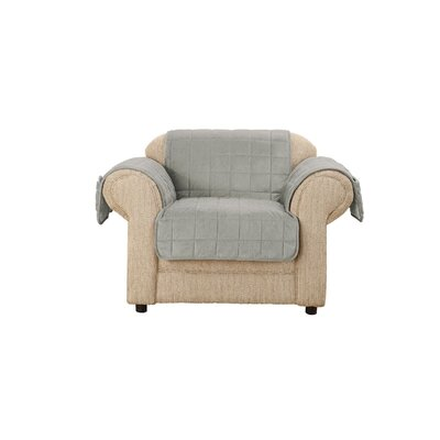 Deep Pile Box Cushion Armchair Slipcover
