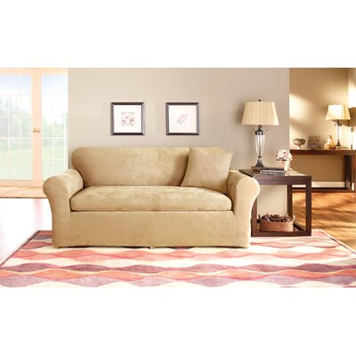 Box Cushion Sofa Slipcover Set Upholstery: Camel
