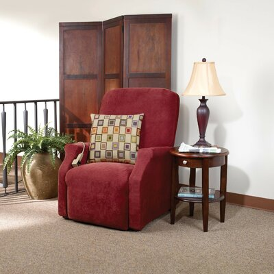 Stretch Pique Recliner Slipcover Upholstery: Garnet, Size: Medium