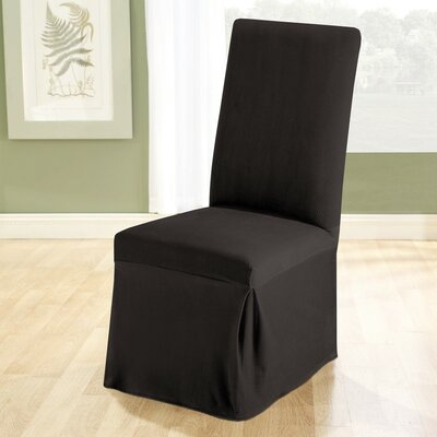 Sure Fit Stretch Pique Dining Chair Slipcover - Color: Black at Sears.com