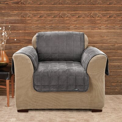 Deluxe Pet Comfort Club Chair Slipcover Upholstery: Dark Grey