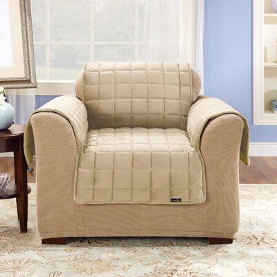 Deluxe Pet Comfort Club Chair Slipcover Upholstery: Ivory