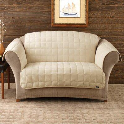Deluxe Pet Comfort Loveseat Slipcover Upholstery: Ivory