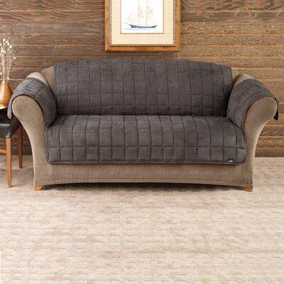 Deluxe Pet Comfort Sofa Slipcover Upholstery: Mini Check Black / Brown