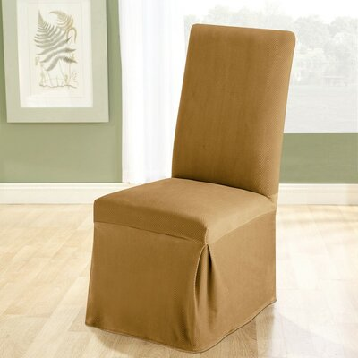 Stretch Pique Dining Chair Slipcover Upholstery: Antique