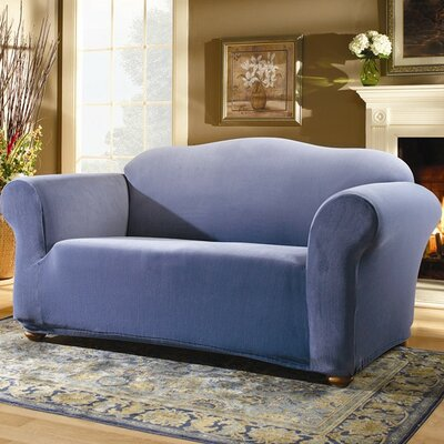 Stretch Pearson Sofa Slipcover Upholstery: Federal Blue