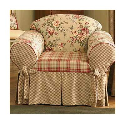 Lexington Club Box Cushion Armchair Slipcover
