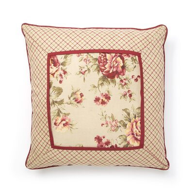 Lexington Piped 100% Cotton Throw Pillow (Set of 2) Color: Floral