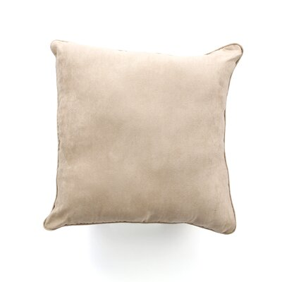 Soft Suede Self Cord Throw Pillow Color: Taupe