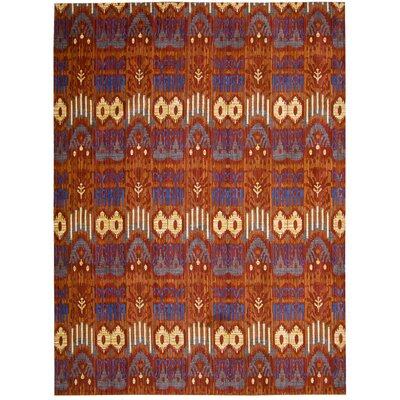 Moroccan Crimson Area Rug Rug Size: Rectangle 73 x 99