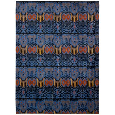 Moroccan Blue Area Rug Rug Size: 73 x 99