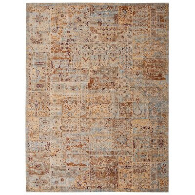 Moroccan Beige Area Rug Rug Size: Rectangle 7'3