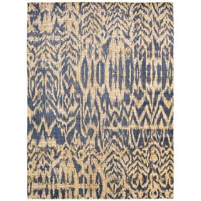 Moroccan Indigo Area Rug Rug Size: Rectangle 53 x 75