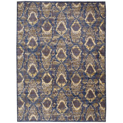 Moroccan Indigo Area Rug Rug Size: Rectangle 53 x 75