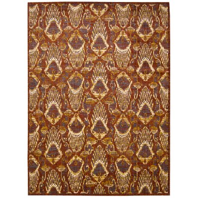 Moroccan Paprika Area Rug Rug Size: Rectangle 53 x 75