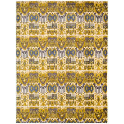 Moroccan Yellow Area Rug Rug Size: Rectangle 53 x 75