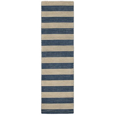 Ripple Midnight Blue Area Rug Rug Size: Runner 23 x 8