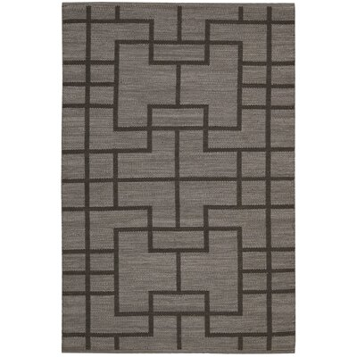 Maze Slate Area Rug Rug Size: Rectangle 36 x 56