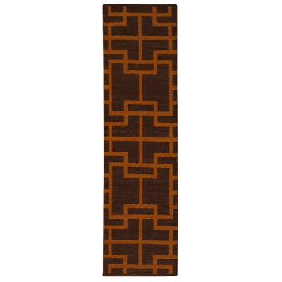 Maze Paris Brown Area Rug Rug Size: Runner 23 x 8