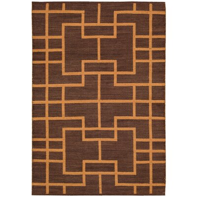 Maze Paris Brown Area Rug Rug Size: Rectangle 79 x 1010