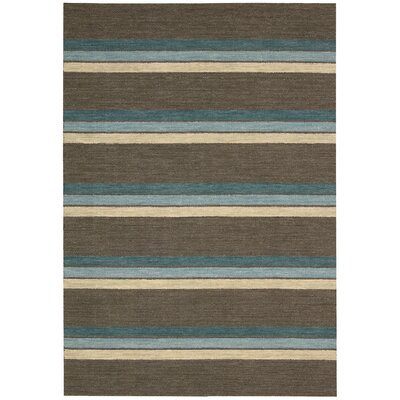 Manford Hand-Woven Brown Area Rug Rug Size: Runner 23 x 8