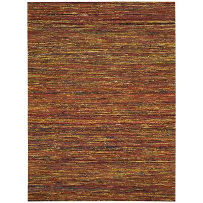 Zahra Hand-Woven Red Area Rug Rug Size: Rectangle 4 x 6