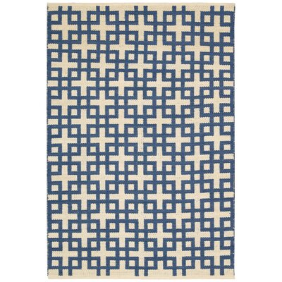 Maze Indigo Area Rug Rug Size: Rectangle 23 x 39