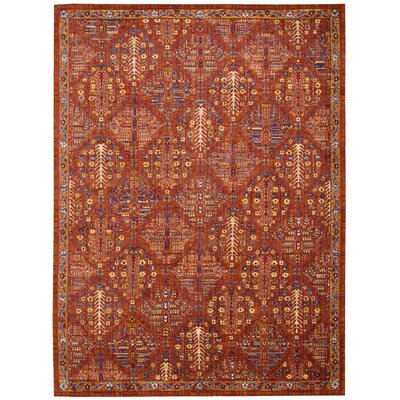 Moroccan Crimson Area Rug Rug Size: Rectangle 73 x 99