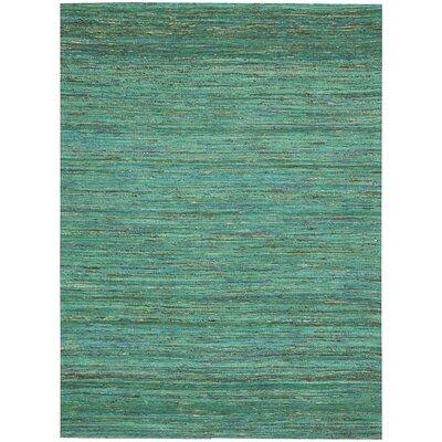 Zahra Hand-Woven Seaglass Area Rug Rug Size: 4 x 6
