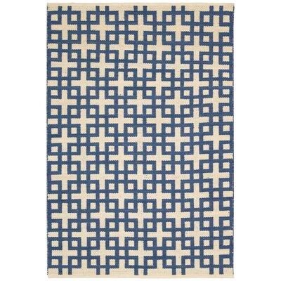 Maze Indigo Area Rug Rug Size: 23 x 39