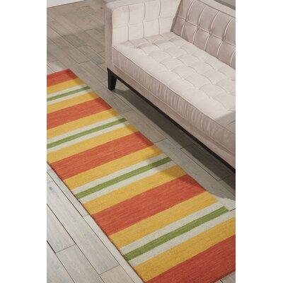 Oxford Handmade Orange/Yellow Area Rug Rug Size: Runner 23 x 8