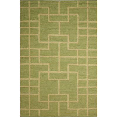 Maze Legra Hand-Woven Green Area Rug Rug Size: Rectangle 79 x 1010