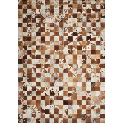 Medley Beige/Brown Area Rug Rug Size: Rectangle 53 x 75