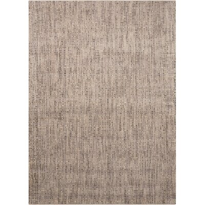 Clarkshire Hand-Woven Smoke Area Rug Rug Size: Rectangle 53 x 75