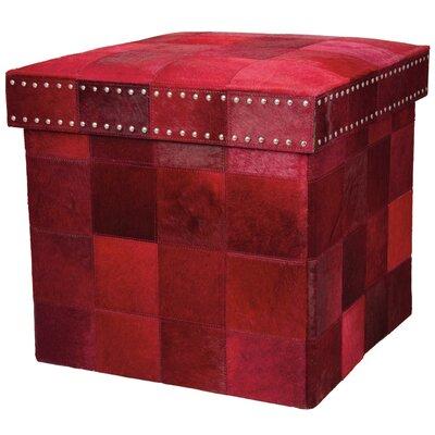 Barclay Butera Storage Ottoman Upholstery: Scarlet