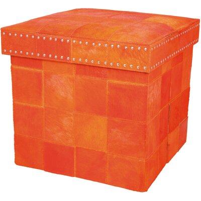 Barclay Butera Storage Ottoman Upholstery: Tangerine