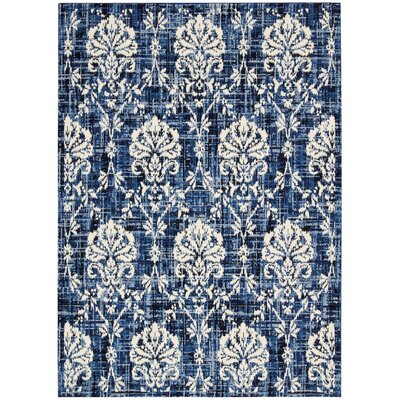 Kaleidoscope Wool Navy/Ivory Area Rug Rug Size: Rectangle 96 x 13