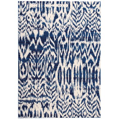 Kaleidoscope Ivory/Navy Area Rug Rug Size: Rectangle 53 x 75